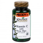 Vitamin C with Rose Hips 500mg 100 kaps